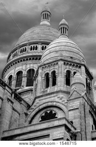 Sacre Coeur Domes (Black & White)