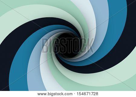 a black hole with a pale blue color 3D illustration
