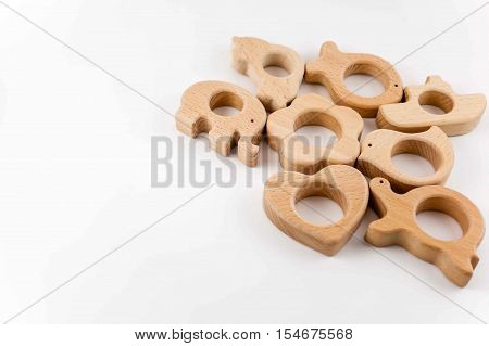 Handmade Organic Wooden Baby Teether and Toys