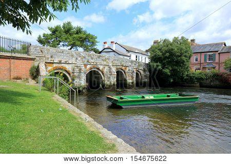Small bridge over the river Avon in Christchurch