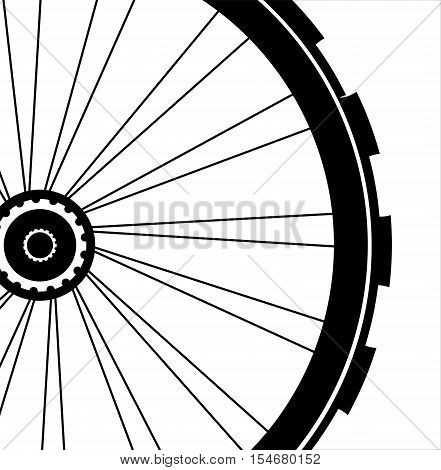 Bike Wheel Isolated On White Background. Bicycle With Wheels Tyre And Spokes