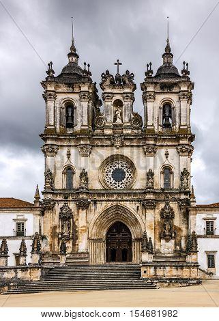 Alcobaca monastery (Mosteiro de Santa Maria de Alcobaca) is a Mediaeval Roman Catholic Monastery Alcobaca Portugal