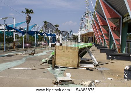 Six Flags New Orleans - 3/27/2011 - A view inside this abandoned six flags amusement park that was destroyed by Hurricane Katrina that swept through between august 21-31 of 2005
