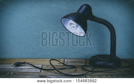 Office Lamp, Lamp On A Wooden Table, A Lamp From Fixture