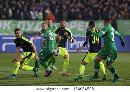 Ludogorets Vs Arsenal Football Match