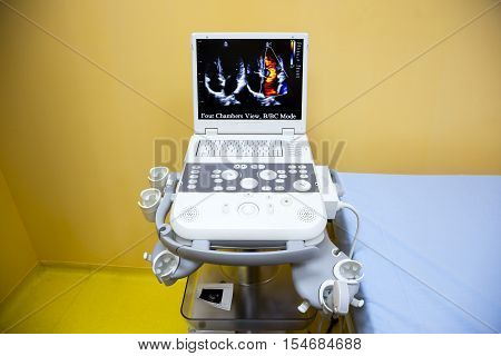 Ultrasonography (ultrasound) Machine In Hospital