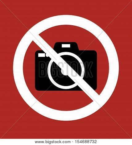 Sign Prohibition Camera - No photo Camera Sign Icon - Stop Symbol - Dygital Photo Camera Sign Illustration Vector Stock