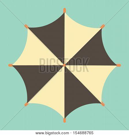 Retro Vintage Umbrella Summer Isolated Vector Illustration Icon Flat Stock