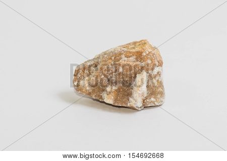 A small chunk of the rock called Yellow Chalcedony
