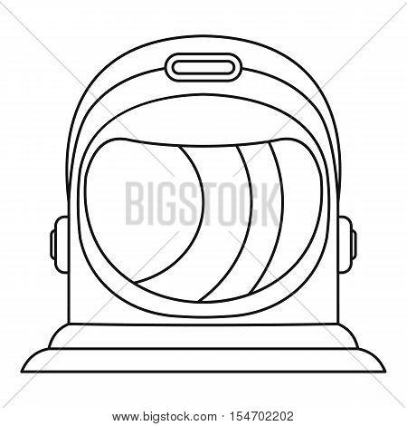 Astronaut helmet icon. Outline illustration of astronaut helmet vector icon for web