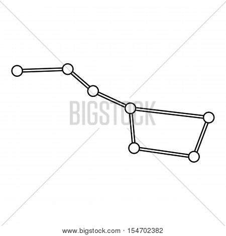 Big dipper constellation icon. Outline illustration of big dipper constellation vector icon for web