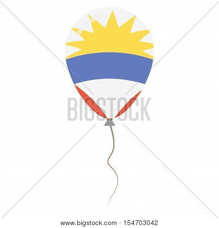Antigua And Barbuda National Colors Isolated Balloon On White Background. Independence Day Patriotic