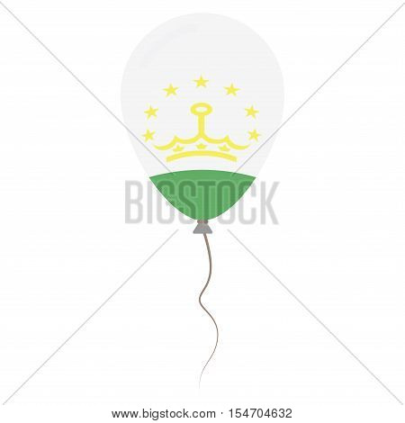 Republic Of Tajikistan National Colors Isolated Balloon On White Background. Independence Day Patrio