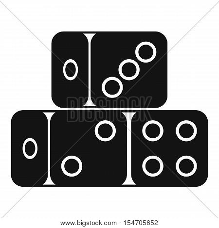 Three dice cubes icon. Simple illustration of dice cubes vector icon for web