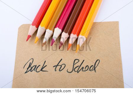 Color Pencils And Back To School Title