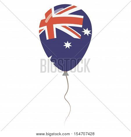 Commonwealth Of Australia National Colors Isolated Balloon On White Background. Independence Day Pat