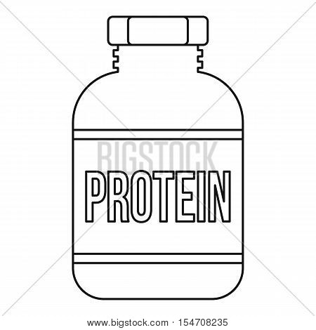 Sports nutrition bottle icon. Outline illustration of sports nutrition vector icon for web