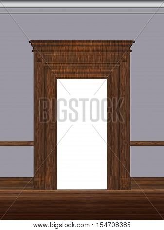 Portal, door, architectural detail, visualization 3d, illustration.