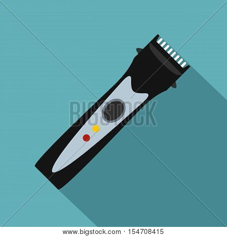 Hair clipper icon. Flat illustration of hair clipper vector icon for web isolated on baby blue background