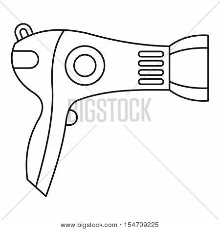 Hairdryer icon. Outline illustration of hairdryer vector icon for web
