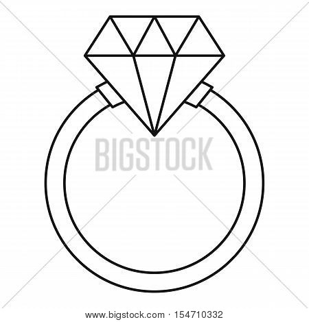 Ring LGBT icon. Outline illustration of ring LGBT vector icon for web