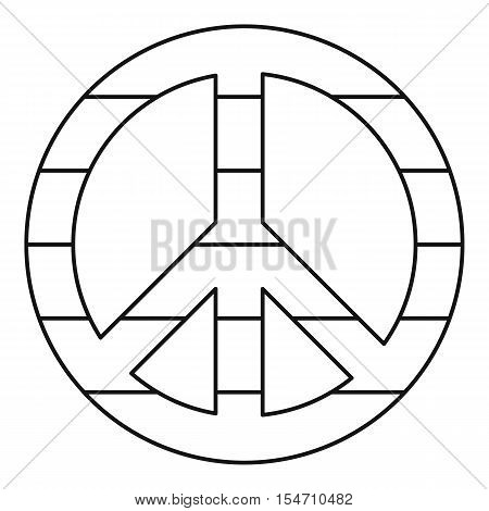LGBT peace sign icon. Outline illustration of LGBT peace sign vector icon for web