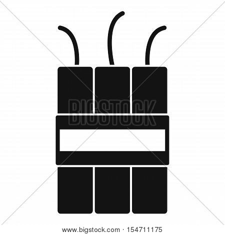 Dynamite explosives icon. Simple illustration of dynamite explosives vector icon for web