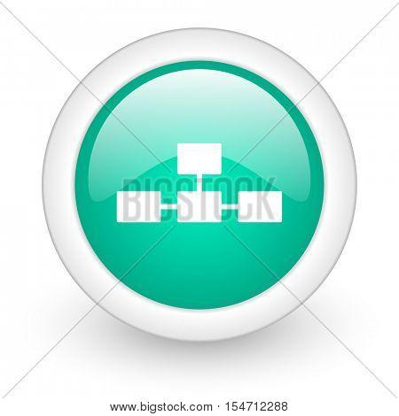 database round glossy web icon on white background