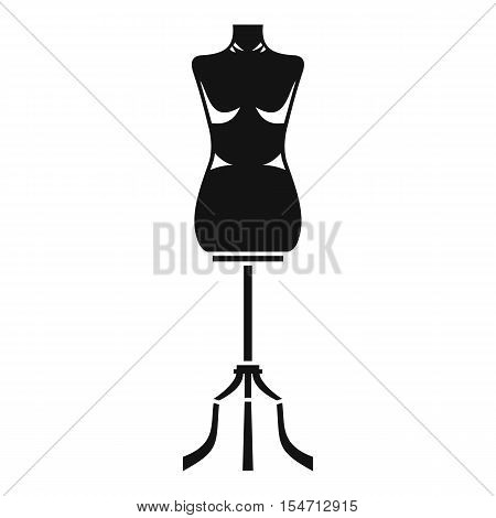 Sewing mannequin icon. Simple illustration of sewing mannequin vector icon for web