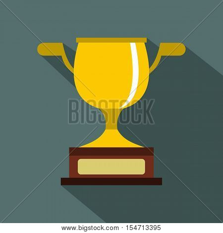 Gold cup icon. Flat illustration of gold cup vector icon for web