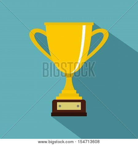 Gold cup for championship icon. Flat illustration of gold cup for championship vector icon for web