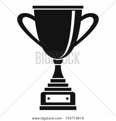 Gold cup for championship icon. Simple illustration of gold cup for championship vector icon for web