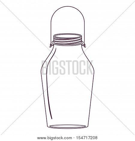 silhouette glass jar with handle vector illustration