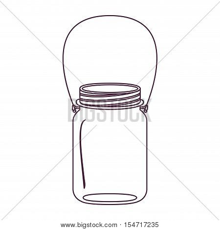 silhouette glass jar of jam with handle vector illustration
