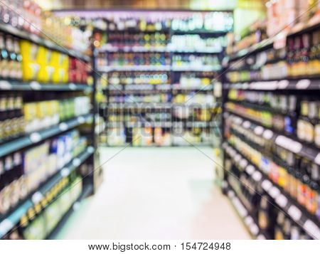 Blur shelf display Supermarket Retail Wholesale Business Grocery shopping