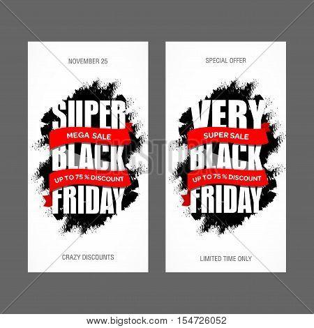 Black Friday Sale Inscription Best Design Template. Black Friday Banner, Poster, Badge, Sticker, Web