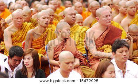 Tattoo Festival At Wat Bang Phra In Nakhon Chaisi Near Bangkok, Thailand