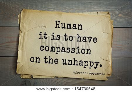 Top 5 quotes by Giovanni Boccaccio - Italian writer, poet, correspondent of Petrarch, Renaissance humanist.  