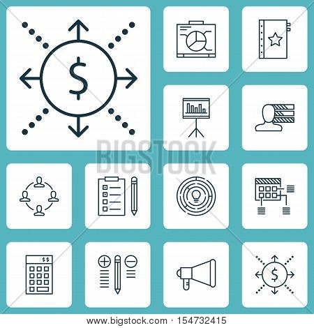 Set Of Project Management Icons On Innovation, Personal Skills And Investment Topics. Editable Vecto