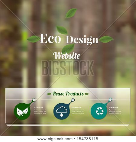 Eco design - Green vector blurred background. renewable energy and sustainable development.Ecology,Recycling concept design.Can used for banner,presentation business,brochure,leaflet .