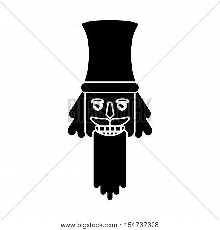 Nutcracker icon. Christmas season decoration and celebration theme. Isolated design. Vector illustration