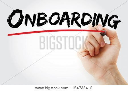 Hand Writing Onboarding With Marker