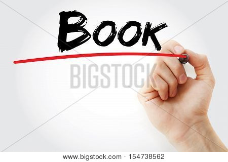 Hand Writing Book With Marker