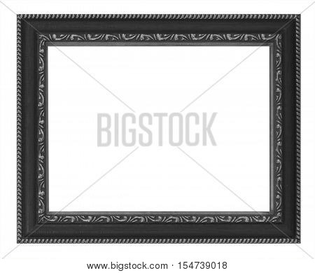 Old Antique Black Frame Isolated