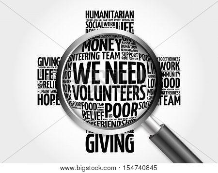 We Need Volunteers Word Cloud