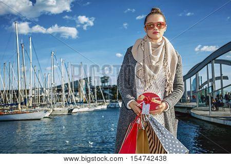 Modern Fashion-monger Shopper In Barcelona, Spain
