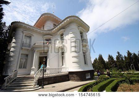 Ataturk kiosk, former Kapagiannidis summer residence, Trabzon, Black Sea, Turkey