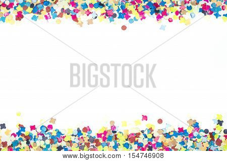 Colorful Confetti In Narrow Bordure