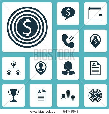 Set Of Human Resources Icons On Female Application, Curriculum Vitae And Tournament Topics. Editable
