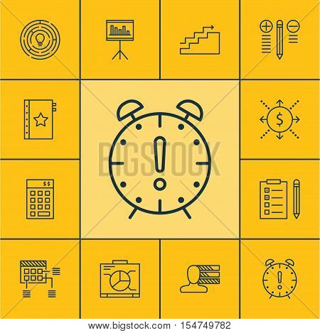 Set Of Project Management Icons On Investment, Growth And Decision Making Topics. Editable Vector Il